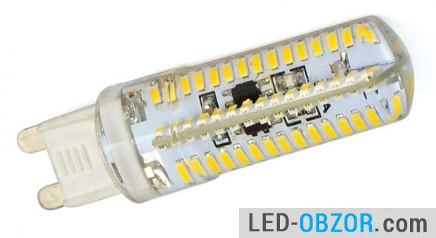 The most powerful in the G9 6W and 380 lm., 104 LEDs