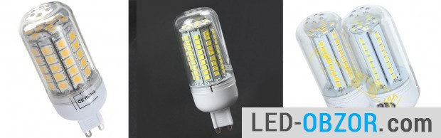 Chinese LED SMD packages in 5050 and 2835 102 LED, a diode 0,09W