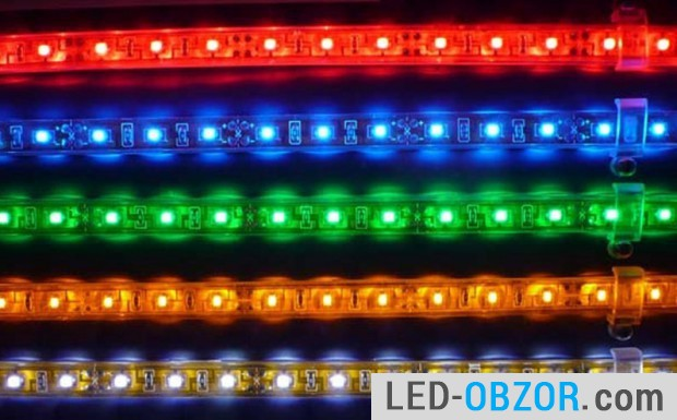 Color RGB, resistor  per LED or two.