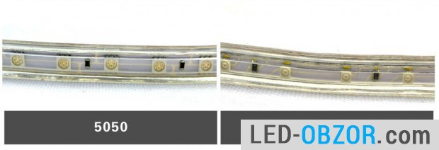 Popular models SMD 5050 and SMD3528