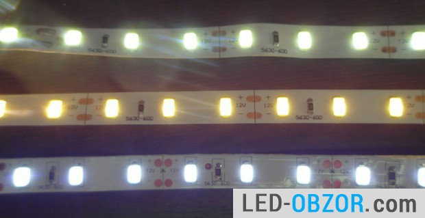 3 different color temperature, luminous flux