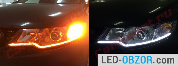 4. Bi-color led tube, marker and turn signal in one