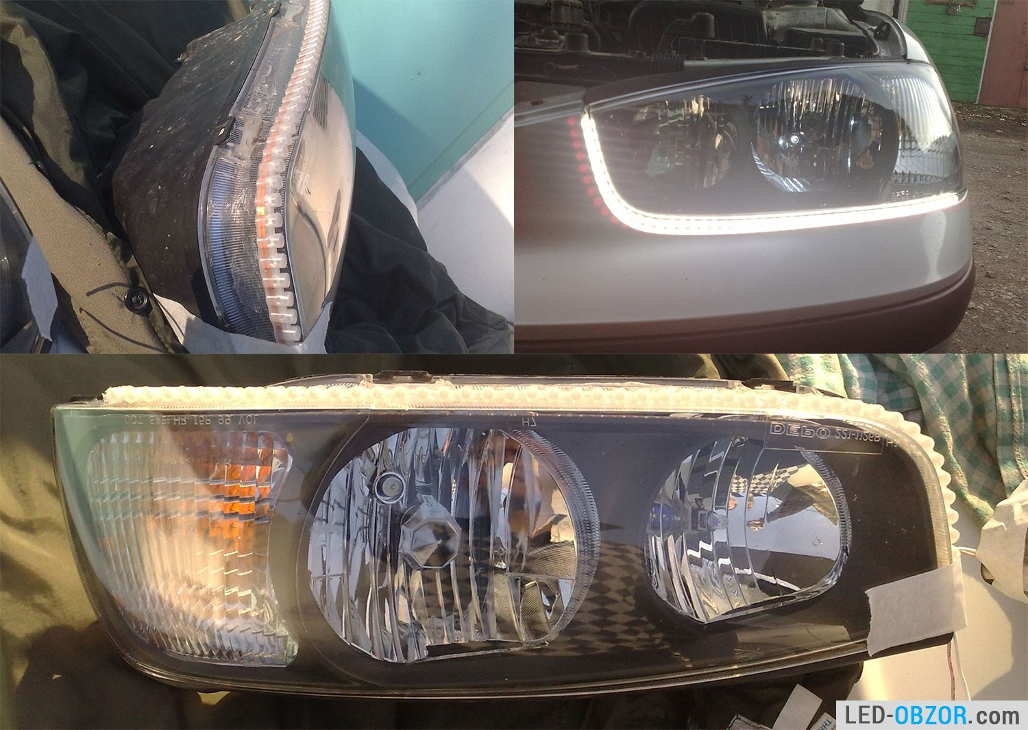 Install led lights in car