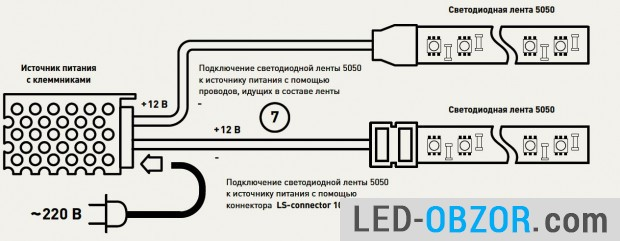 Proper parallel connection to the power supply to 12 volts